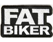 """(ZDO) FAT BIKER  3"""" X 2"""" iron on patch (2713)"""