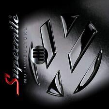 Schwarze Hochglanz Aufkleber Sticker für das VW Emblem VW Polo (Typ 6R)