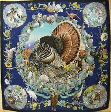 Hermès Care Chiffon scarve K. OLIVER-Faune et Flor tu texas wild life - #6088