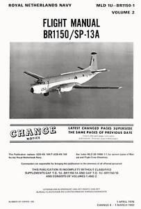 BREGUET 1150 ATLANTIC - FLIGHT MANUAL VOL.2 / MLD 1976