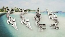 30PCS Tibetan silver shark knife charms FC9034