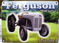 OLD GREY FERGIE TE 20 T20 FERGUSON METAL WALL SIGN FARM