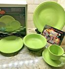 1st Quality NIB Discontinued Fiesta Chartreuse 5 Piece Place Setting Fiestaware