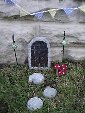Hand Made Portcullis Fairy Garden Kit Fairy Door, Stepping Stones & Accessories