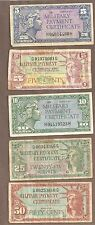 New listing Series 591 611 Military Payment Certificate Lot 5 10 25 50 Cents