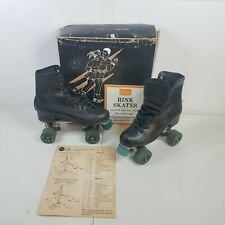 Vintage Sears Roebuck Roller Derby Rink Skates Womens Size 7 USA Made W/Box