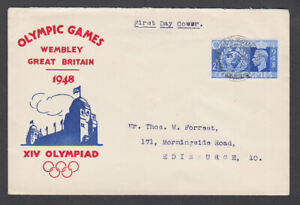 Great Britain 1948 FDC Wembley Olympic games XIV Olympiad King George VI