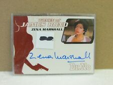 Women of James Bond Autograph Card Zena Marshall Card WA6 Rittenhouse Archives