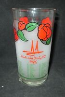 Kentucky Derby 112 Commemorative Glass 1986 Run For The  Roses
