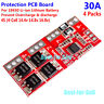 4S 30A 14.8V 16.8V Li-ion Lithium 18650 Battery BMS Cell Protection PCB Board