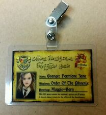 Harry Potter ID Badge - Gryffindor House Hermione Granger cosplay prop costume