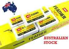 FEATHER DOUBLE EDGE RAZOR BLADES JAPANESE HI-STAINLESS - AUS SELLER