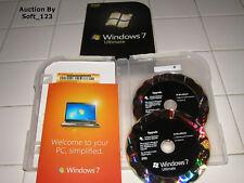 Microsoft Windows 7 Ultimate Upgrade 32 & 64 Bit DVD MS WIN PRO = RETAIL BOX=