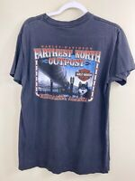 Vintage Harley Davidson T Shirt Farthest North Outpost Fairbanks Alaska Top