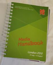 2012 London Olympic Games Official Media Handbook * Excellent Condition