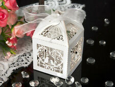 50 X Laser Cut Sweets Love Bird Baby shower Wedding Favors Candy Boxes Cute FD#