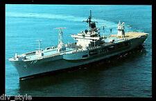 USS Blue Ridge  LCC-19 postcard US Navy Flagship of Commander, 7th Fleet (cd3)