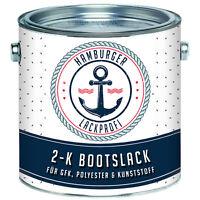2K Bootslack GLÄNZEND Verkehrsweiß RAL 9016 Weiß für GFK Bootsfarbe Yachtlack