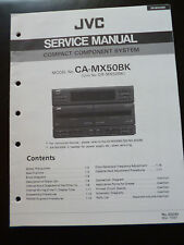 ORIGINALI service manual JVC COMPACT COMPONENT SYSTEM ca-mx50bk