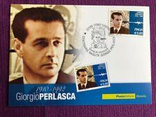 """2010 Cartolina Filatelica FDC """"Giorgio Perlasca"""" Annullo COMO CENTRO"""