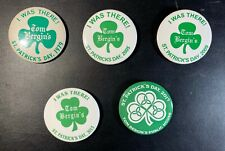 Lot 2: 5 different Tom Bergin's Los Angeles Irish bar St. Patrick's Day buttons