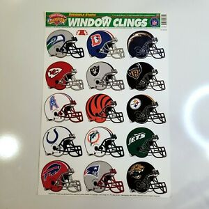 Vtg Window Clings 1996 Color Clings Champion Series AFC NFL Teams New