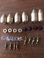 Brass Fishing Weights W/ Glass Beads and Tickers Carolina Rig Kit