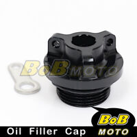 Black Racing Plug Oil Filler Cap for Yamaha R125 2008-2013 14 15