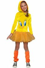Girls Tweety Bird Costume Hoodie Tutu Dress Looney Tunes Child Size Medium 8-10