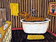 chesapeake bay retriever DOG art PRINT poster gift JSCHMETZ 13x19 bathroom bath