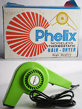 ULTRA RARE VINTAGE 70'S PHELIX HAIR DRYER MADE IN GREECE GREEK NEW NOS MIB !