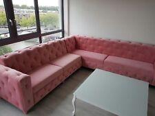 Maßanfertigung Couch Ecksofa Sofa Polster Chesterfield Ecke Garnitur Dio New