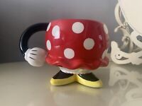 Disney Parks Minnie Mouse Ceramic Mug With Skirt Feet Authentic Original