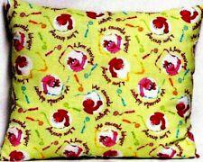 Toddler Pillow for Sesame Street on Green 100%Cotton #Ss5 New Handmade