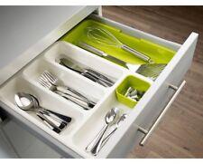 Joseph Expandable Cutlery Tray Kitchen Organizer Utensil Drawer Insert Green