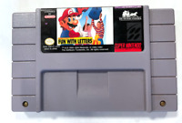 AUTHENTIC Mario's Early Years: Fun With Letters SUPER NINTENDO SNES GAME Tested