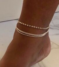 Bracelet Chain Link Foot Crystal Beads New Fashion Women's multi Layers Ankle