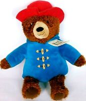 "Kohls Cares Paddington Bear Plush Blue Coat Red Hat Stuffed Animal 14.5"""