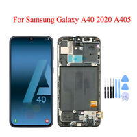 New For Samsung Galaxy A40 A405 AMOLED LCD Touch Screen Digitizer Frame Assembly