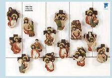 Set Via Crucis 8 cm in resina, 14 pezzi con calamita by Paben