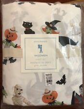 NWT Pottery Barn Kids ~HALLOWEEN~ Queen SHEET Set ~GHOSTS & SKELETONS~ Sold OUT