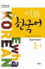 Language study textbooks for sale ebay ewha korean language book 1 1 with cd korea textbook english version fandeluxe Image collections