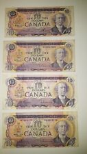 BANK OF CANADA 4 1971 $ 10 CANADIAN BANK NOTES FOR $ 75