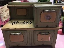 Vintage 1930's Metal Ware Corp? Child's Real Electric Stove Oven USA