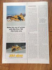 1968 Ski-Doo Bombardier Snowmobile Ad  1967 Canada Dry Wink soda Ad