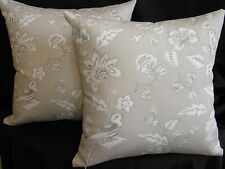Cream Stone Taupe White Flower Birds Toile Look Cushion Cover 45cm Au Made
