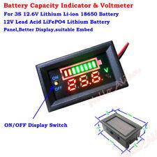 LED Lead Acid LiFePO4 Lithium Li-ion Battery Capacity Level Indicator Voltmeter