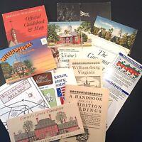 Lot of Colonial Williamsburg Epherma 1984 Postcards Guidebooks Maps Exhibits