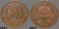 1844 Bank of Montreal Half Penny Small trees