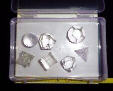 7 Piece CLEAR QUARTZ CRYSTAL Sacred Geometry Kit